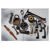 Assortment of vintage hardware