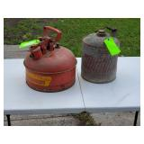 2 gallon Eagle gas can & Vintage gas can