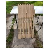 Lot of 9 Maple wood spindles