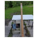 5 foot long oak trim boards & bathroom mirror