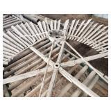 Vintage 10 foot old style wood Windmill
