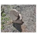 Beaver Oak Stump for Yard Art