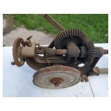 Vintage Wall Mount Belt Drive Drill Press in working shape