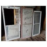 3 large vintage windows
