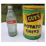 Vintage Coke Bottle & Guy