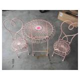 Small Metal Table and Chairs Set