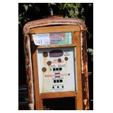 Standard Metal Gas Pump with Custom 4-Tier Wood Shelving