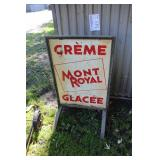 Mont Royal Crème Glacee Metal Sign