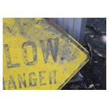 SLOW Danger Metal Sign