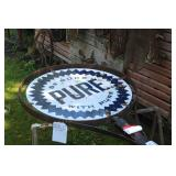 Vintage Look 16ft. Pure Oil Sign and Pole