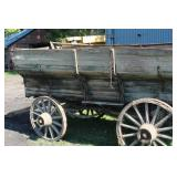Wood Sided Wood Wheel Farm Wagon