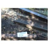 Lot of (4) Rail Road Track Rails