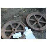 Lot of (2) 18in. Gas Engine Flywheels