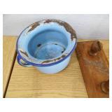 Horn - Boxes - Enamelware Pot