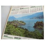 2 Burlington Northern Calendars