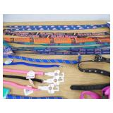 Assorted New Leashes and Collars