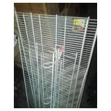 NEW 4 Rubbermaid metal shelving. -new.