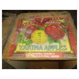 2 Apple crates Yakima Red Ribbon & Stone Northwest Apples.