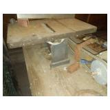 Vintage table saw & wood stand.