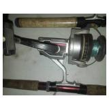 6 fishing reels & rods, Some high end.