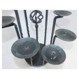 Wrought Iron Decorative Black Candle Holder
