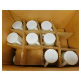 28 Vintage Fire-King Oven Ware D Handled White Glass Mugs