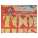 Vintage Handy Andy Carpenters Tool Chest