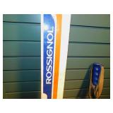 Vintage Rossignol Downhill Skis with Poles