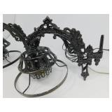 2 Vintage Cast Iron Electrical Light Fixtures