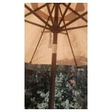 Hexagon Patio Table with 4 Chairs and Umbrella