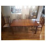 Zimmerman Mission Dining Table and Chairs