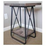 International Furniture Direct Wrought Iron Industrial Side Table