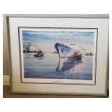 Tony Yaworski Signed Print ~ Foreign Vessel Duluth/Superior Harbor