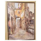 Pair of Framed Venetian Cityscape Prints, set of 2