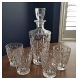 Lenox Crystal Decanter and Glass Set