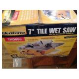 "7"" Tile Wet Saw"