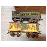 Wood Box & Vintage Train Pieces