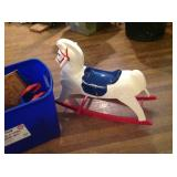 Toys in Tote & Rocking Horse
