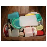 Large Box of Tupperware some Vintage
