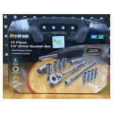 "Pro-Grade 1/4""-Drive Metric Socket Set"