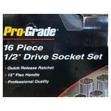"Pro-Grade 16-Piece 1/2""-Drive SAE Socket Sr"