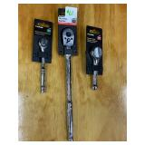 """Lot Of 1/4"""" -- 3/8"""" -- 1/2"""" Socket Wrenches"""