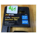 "Pro-Grade 7-Piece 1/2"" Metric Impact Socket Set"