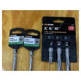Lot Of Assorted Socket Extensors & Driver Tools