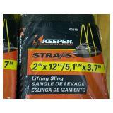 "Lot Of (2) Keeper 2"" x 12ft Lifting Slings"