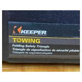 """Lot Of (4) Keeper 17"""" Reflective Towing Triangles"""