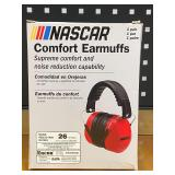 Nascar Noise-Reduction Comfort Ear Muffs, Color: Red