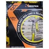 """Lot Of (2) Keeper 2"""" x 27ft Ratchet Straps, 3,333#"""