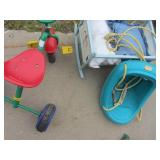 Swing, Tricycle, Doll Cradle
