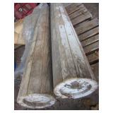 Primitive Wooden Porch Colums